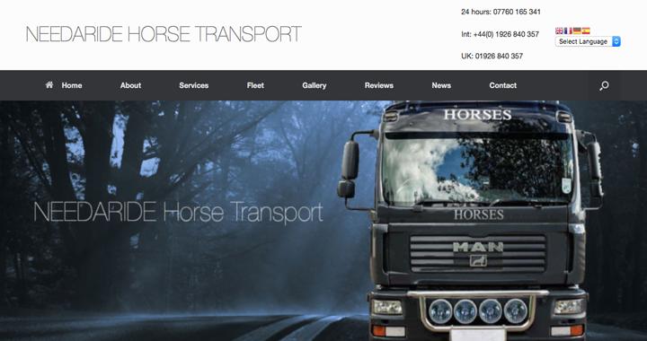 Needaride Horse Transports Latest Responsive Website